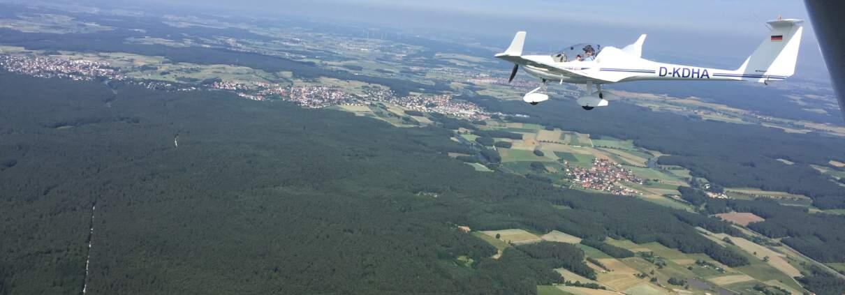 Die Dimona aus der Luft