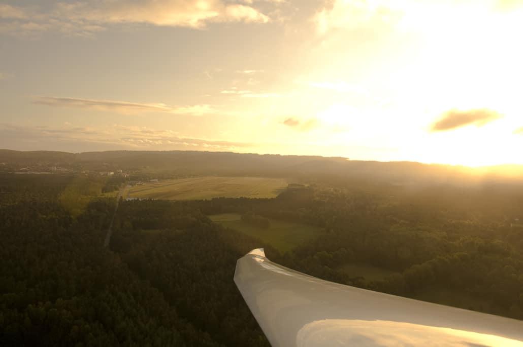 Landeanflug auf Oerlinghausen